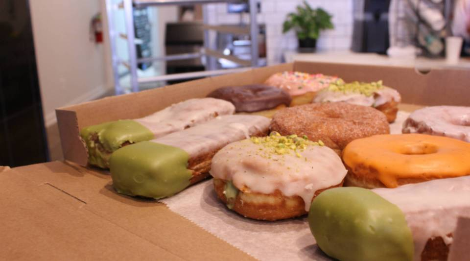 A box of Dottie's Donuts in Philadelphia, where no more Boston Creme donuts will be made until after the Super Bowl.