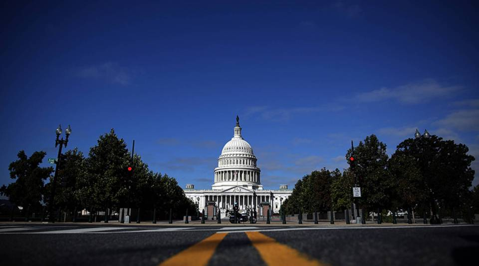 The United States Capitol building is seen as Congress remains gridlocked over legislation to continue funding the federal government Sept. 29, 2013 in Washington, D.C.
