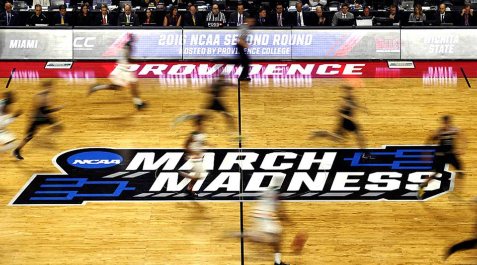 A general view as the Miami Hurricanes face the Wichita State Shockers during the second round of the 2016 NCAA Men's Basketball Tournament at Dunkin' Donuts Center on March 19, 2016 in Providence, Rhode Island.