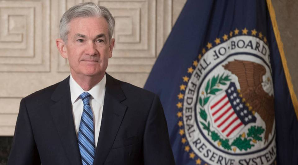 Jerome Powell arrives to takes the oath of office as he is sworn-in as the new Chairman of the Federal Reserve (FED) at the Federal Reserve Building in Washington, D.C., Feb. 5, 2018.