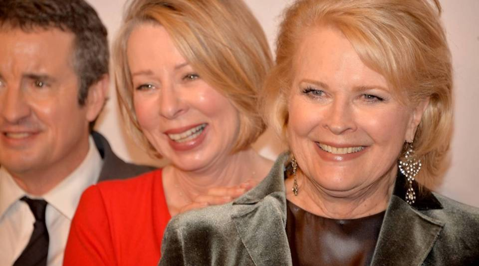 """Murphy Brown"" creator Diane English, center, with actors Grant Shaud and Candice Bergen, attend a 25th anniversary event for the show at the Museum of Modern Art in New York City in 2013."