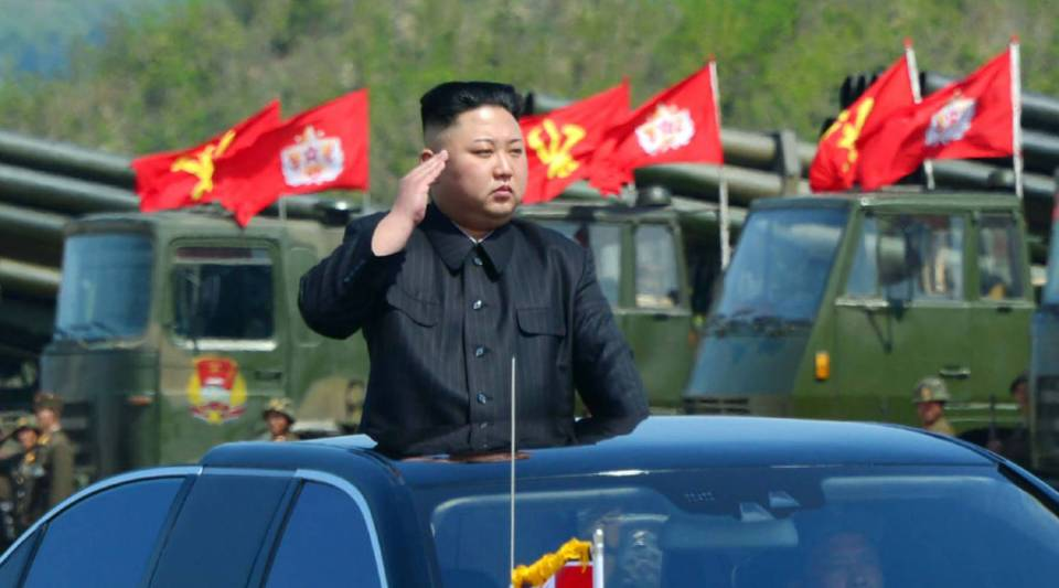 This undated picture released by North Korea's official Korean Central News Agency (KCNA) last year shows North Korean leader Kim Jong Un attending the combined fire demonstration of the services of the Korean People's Army in celebration of its 85th founding anniversary at the airport of eastern front.