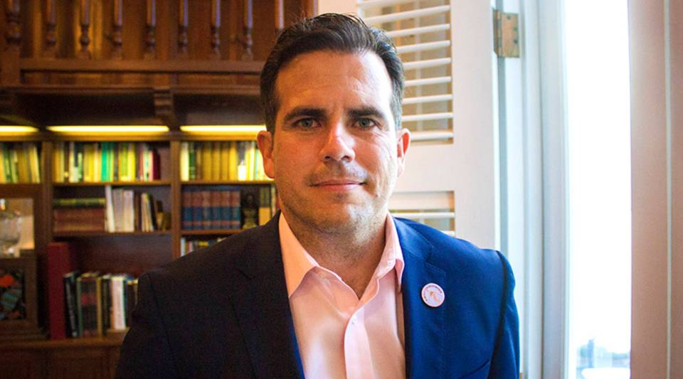 Puerto Rican governor Ricardo Rosselló in his office in San Juan on April 18, 2018.