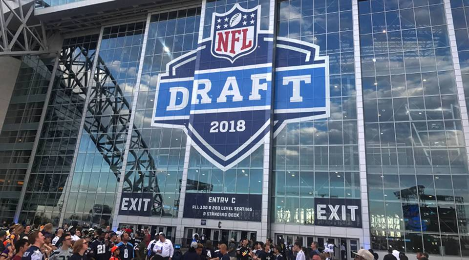 The AT&T Stadium in Arlington, TX is the site of this year's NFL draft.