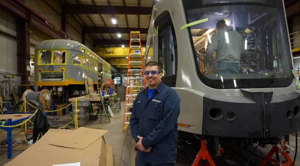 Electrician Chris Lasher at Brookville Equipment Corporation.