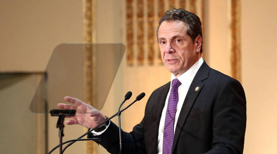 Governor of New York State Andrew Cuomo speaks on stage at the HELP USA 30th Anniversary Event at The Plaza Hotel on March 16, 2017 in New York City.
