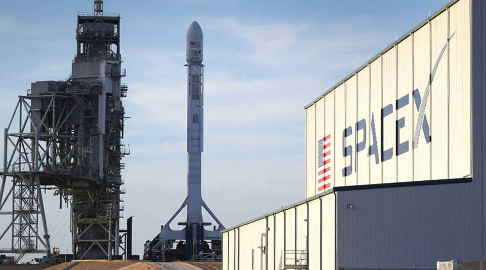 A SpaceX rocket awaits launch in 2017 in Cape Canaveral, Florida.