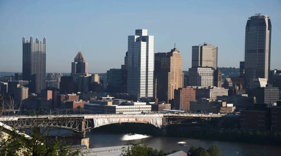 General view of Downtown Pittsburgh, Pennsylvania, on June 2, 2017.