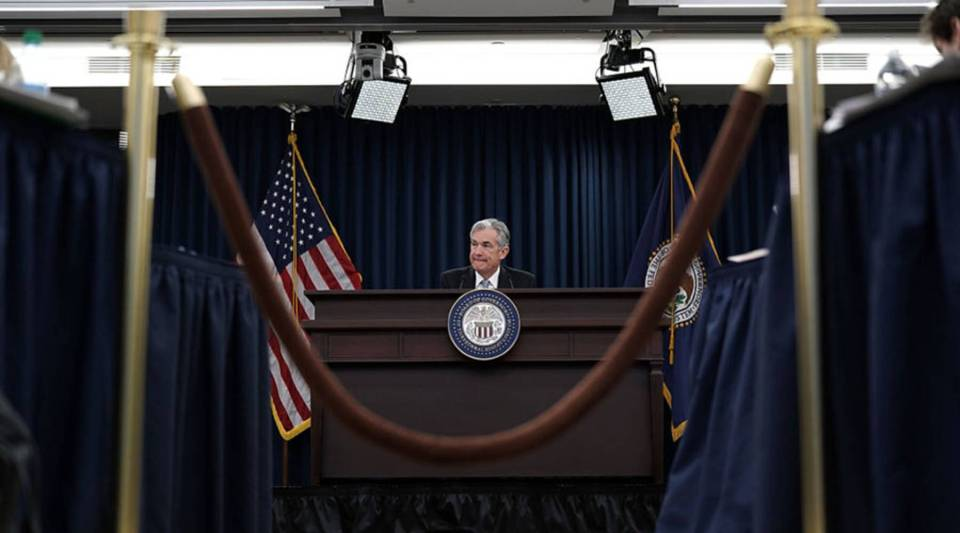U.S. Federal Reserve Chairman Jerome Powell speaks during a news conference March 21, 2018 in Washington, D.C.