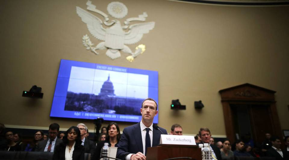 Facebook CEO Mark Zuckerberg testifies before the House Energy and Commerce Committee on April 11, 2018 in Washington, D.C. This is the second day of testimony before Congress by Zuckerberg, 33, after it was reported that 87 million Facebook users had their personal information harvested by Cambridge Analytica, a British political consulting firm linked to the Trump campaign.
