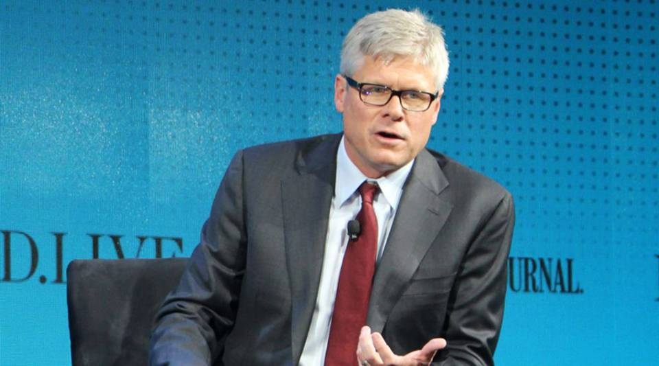 """""""There is a responsibility to make sure that the technologies that you create have the proper technology built in so that it's used appropriately,"""" Qualcomm CEO Steven Mollenkopf says. Above, he speaks at a tech conference in October."""