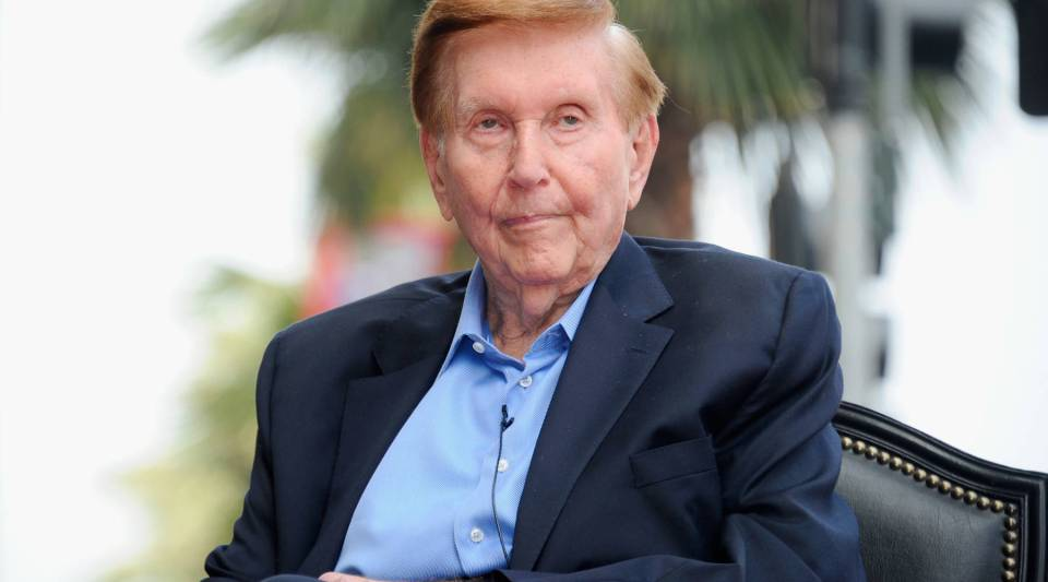 Sumner Redstone, chairman emeritus of the CBS Corporation and Viacom.