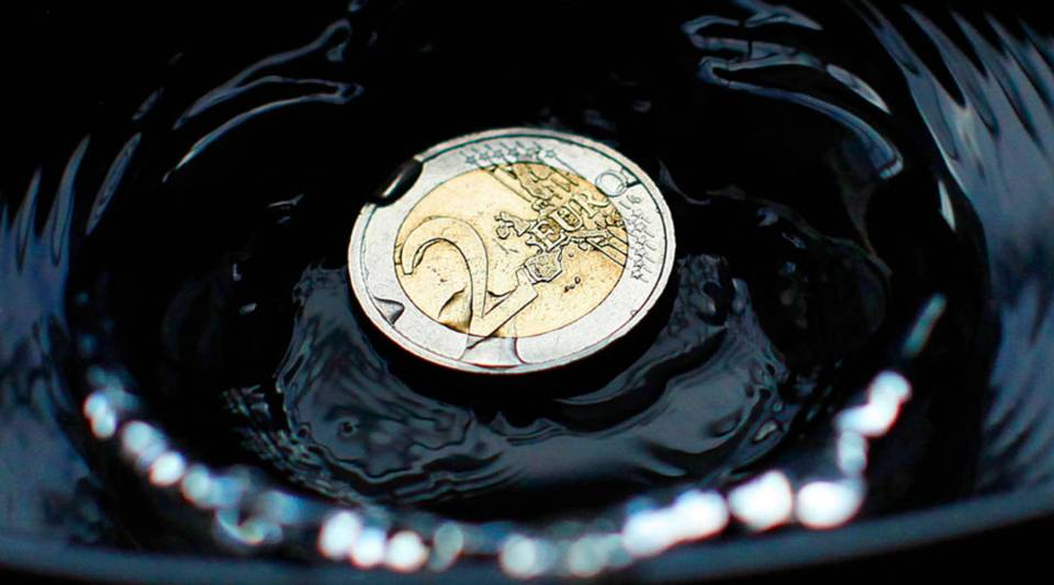 An illustration shows a two euro coin taken in Dublin in 2013.