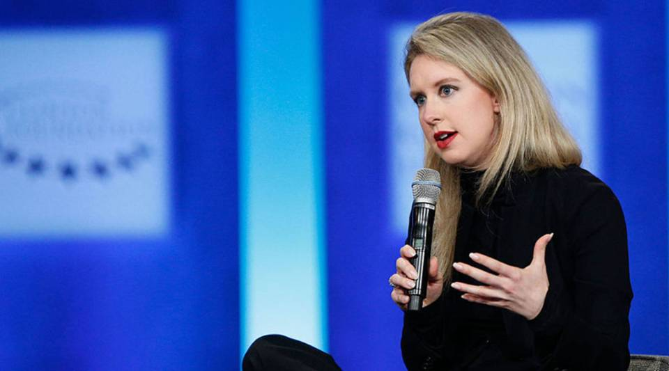 Elizabeth Holmes speaks during the closing session of the Clinton Global Initiative 2015 in New York City.