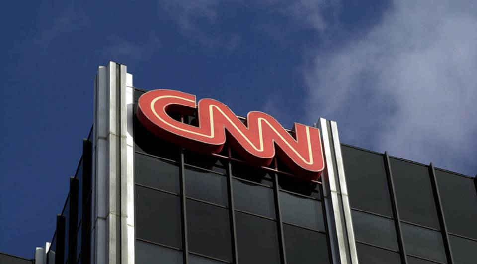 The Cable News Network (CNN) logo adorns the top of CNN's offices on the Sunset Strip, January 24, 2000 in Hollywood, CA.