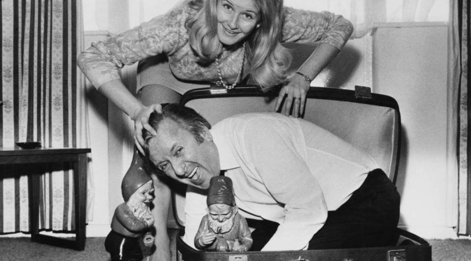 Comedian Hugh Lloyd and his wife, Carol, prepare to go to Australia in 1969.