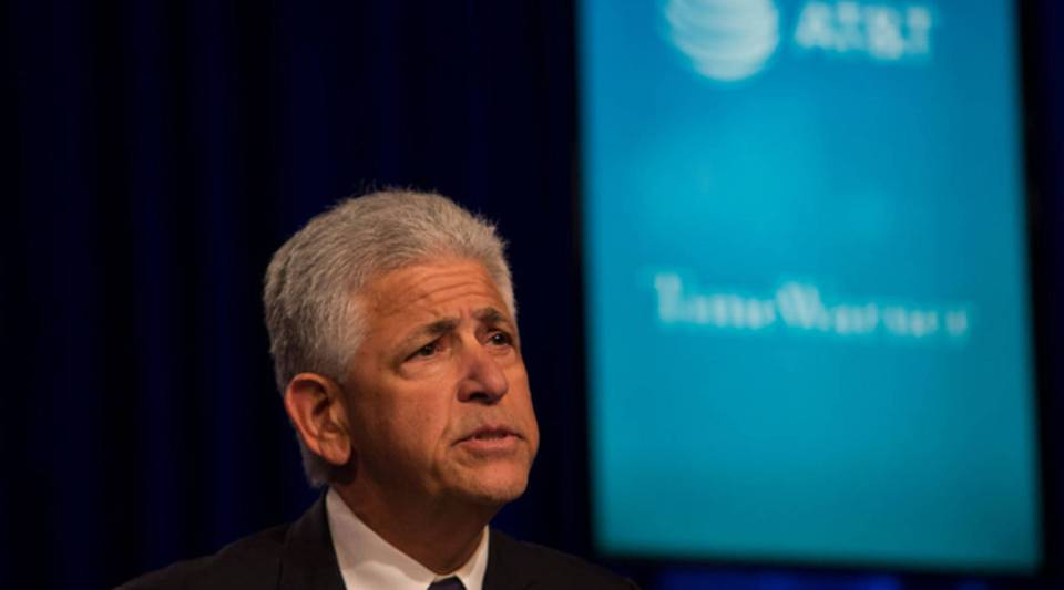 O'Melveny & Myers counsel Daniel M. Petrocelli speaks at a news conference in Time Warner headquarters addressing the latest developments in the AT&T and Time Warner merger on Nov. 20, 2017, in New York City.
