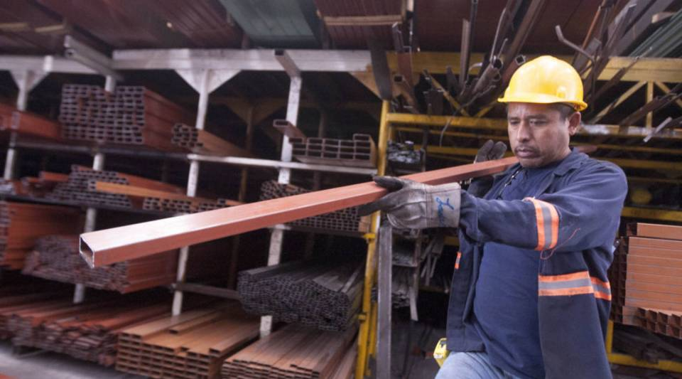 Mexico announced sweeping retaliatory tariffs on a host of U.S. goods Thursday after the United States slapped steep tariffs on steel and aluminum from Mexico, Canada and the European Union. Above, a man works in a steel distribution factory in Monterrey in northern Mexico on May 31.