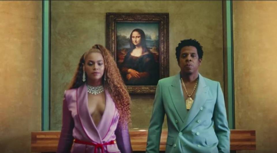 Beyoncé and Jay-Z's music video was shot in various parts of the Louvre in Paris.