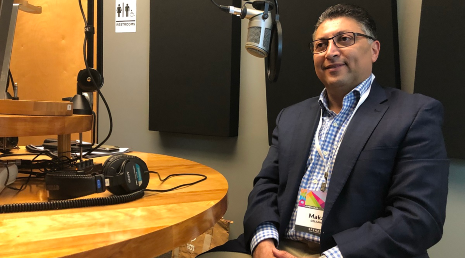 """We don't have a 24-hour dedicated news channel to go out and spin your case to the American public and judges and others as some merging parties might,"" says Makan Delrahim, pictured above at the Aspen Ideas Festival, of the loss of the AT&T-Time Warner case."