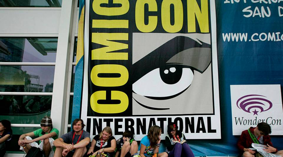 Comic fans wait outside before the start of Comic-Con International: San Diego 2010.
