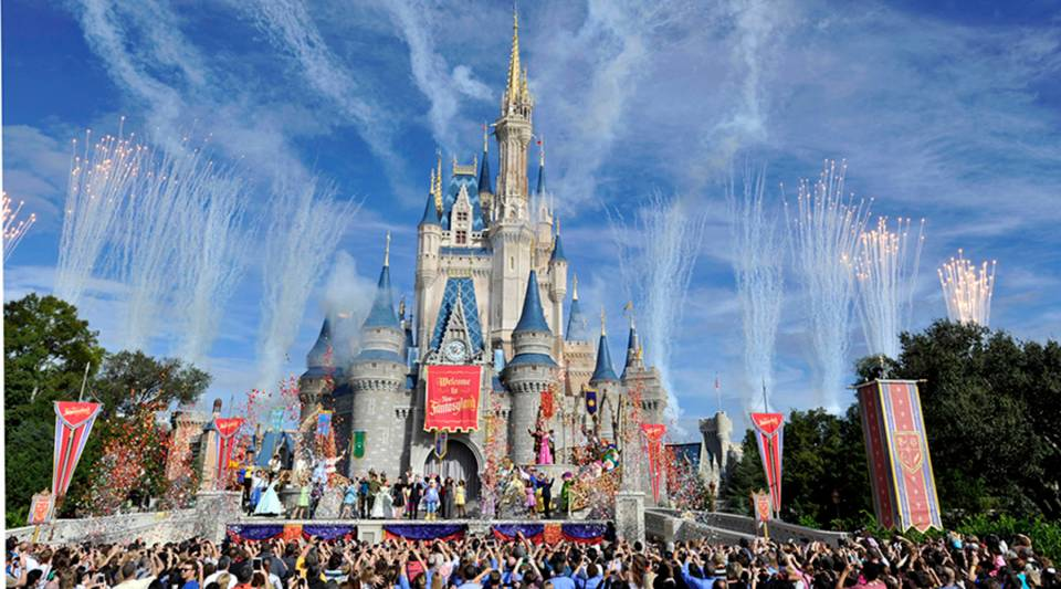 In this handout image provided by Disney Parks, fireworks light the sky over Cinderella Castle during the Grand Opening of New Fantasyland at Walt Disney World Resort December 6, 2012 in Lake Buena Vista, Florida.