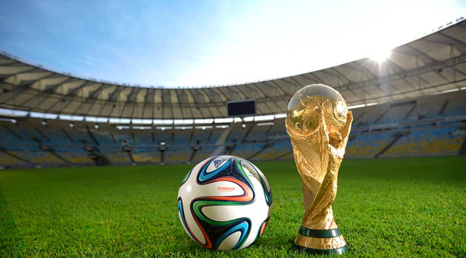 A general view of Brazuca and the FIFA World Cup Trophy at the Maracana before the adidas Brazuca launch at Parque Lage on December 3, 2013 in Rio de Janeiro, Brazil.
