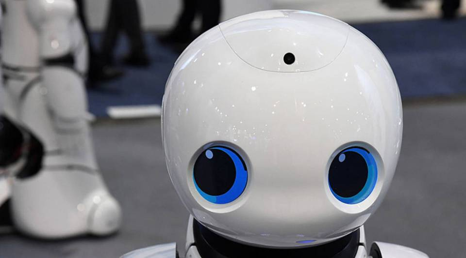 """There actually is a sort of pent-up demand for robot conversation because people are lonely,"" says MIT researcher Sherry Turkle. Above, a Tanscorp UU smart robot at CES 2017 in Las Vegas."