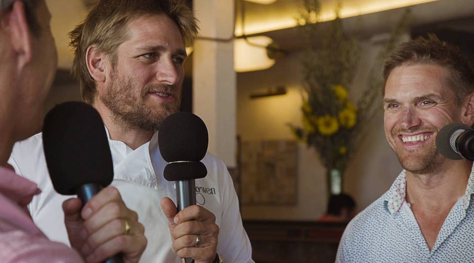 Curtis Stone (righ) opened Gwen, his Hollywood butcher shop and restaurant, alongside older brother Luke Stone (left).