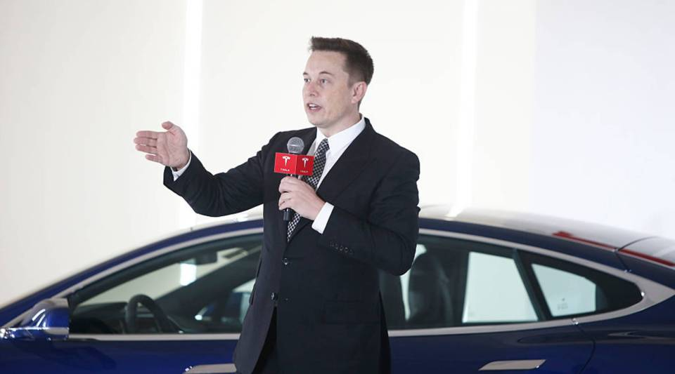 Tesla's stock has taken a hit.