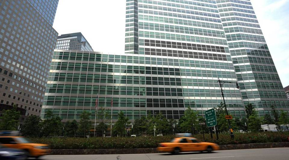 A view of Goldman Sachs' headquarters in lower Manhattan back on June 22, 2012 in New York.