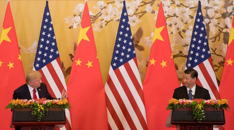 President Donald Trump and Chinese President Xi Jinping speak during a joint statement in Beijing last November.