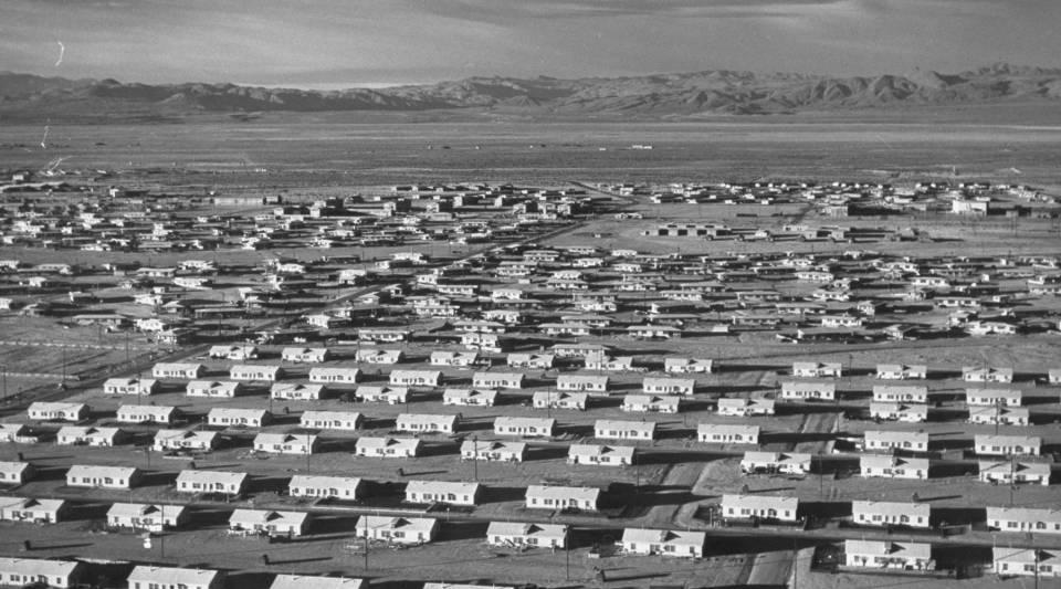 Duplexes at the Naval Air Weapons Station at China Lake circa 1948