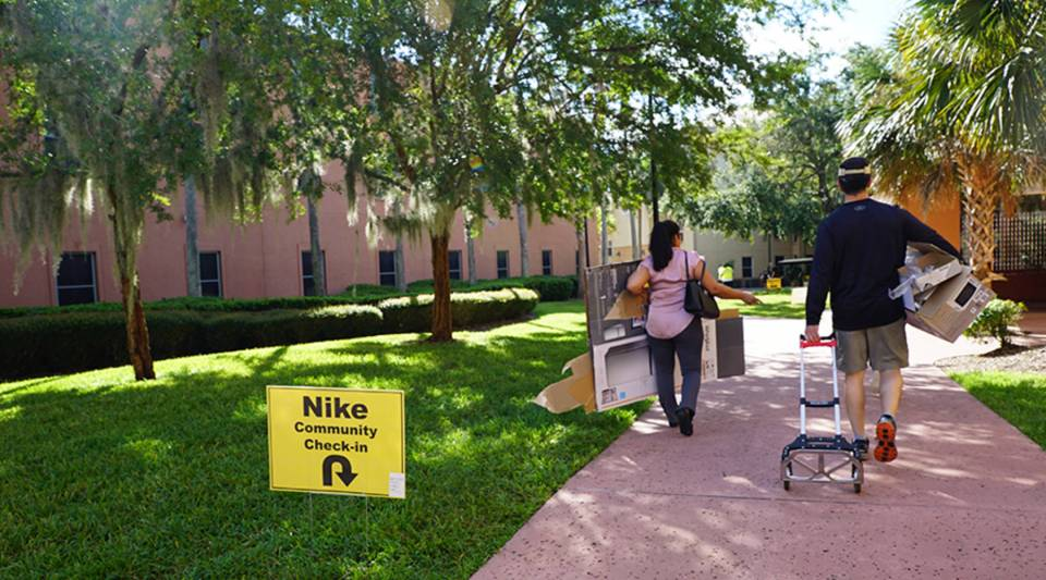 An independent survey from consulting firm Deloitte estimates parents will spend $25.5 billion on back-to-college purchases in 2018. Above, a residential hall at the University of Central Florida.