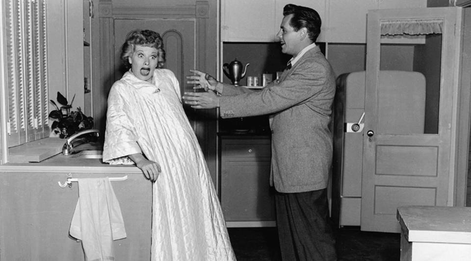 """Lucille Ball and Desi Arnaz in """"I Love Lucy"""" in 1956. The show still has earning power."""