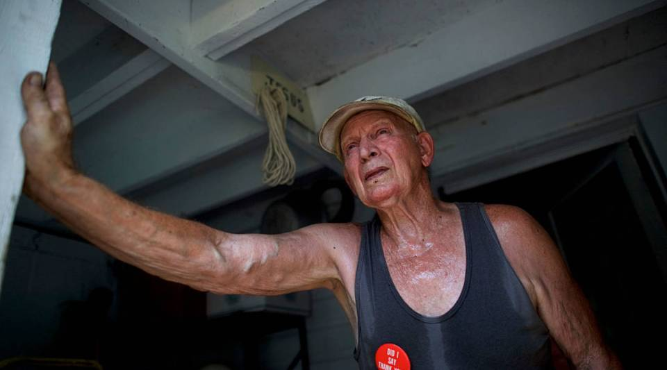 Nick Dindash, 78, who supports Donald Trump, poses for a portrait at his home back on Aug. 13, 2016 in Windber, Pennsylvania. The small Western Pennsylvania town of just over 4,000 residents was founded as a company town for nearby coal mines, most of which have closed.
