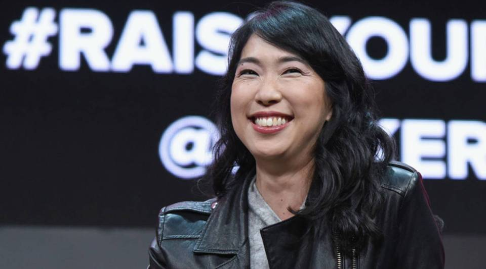 """You'll find actually great entrepreneurs out there ... who don't fit the exact profile that everyone believes is the great startup founder,"" says Ann Miura-Ko, co-founding partner of Floodgate. Above, she speaks at the 2018 Makers Conference in Los Angeles."