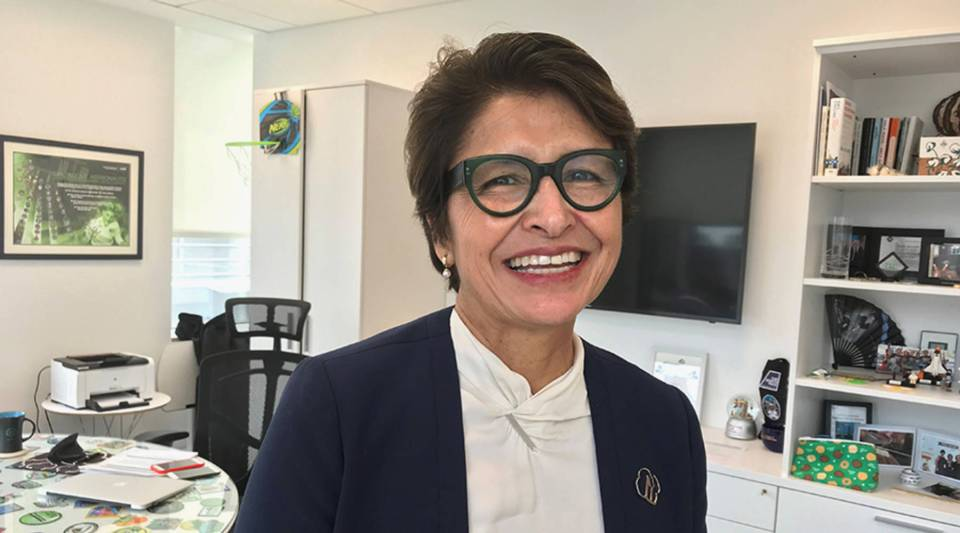 Girl Scouts CEO Sylvia Acevedo in her office.