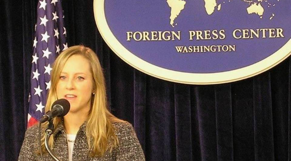 "Kathleen Kraninger briefing at the Washington Foreign Press Center on the ""Launch of Electronic System for Travel Authorization (ESTA)."""