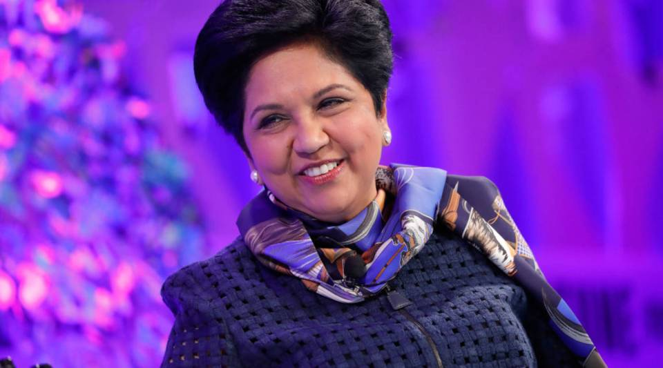 Pepsi Chairman and CEO Indra Nooyi speaks onstage at the Fortune Most Powerful Women Summit.