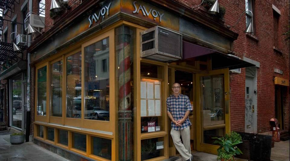 A view of chef Peter Hoffman outside his former restaurant Savoy.