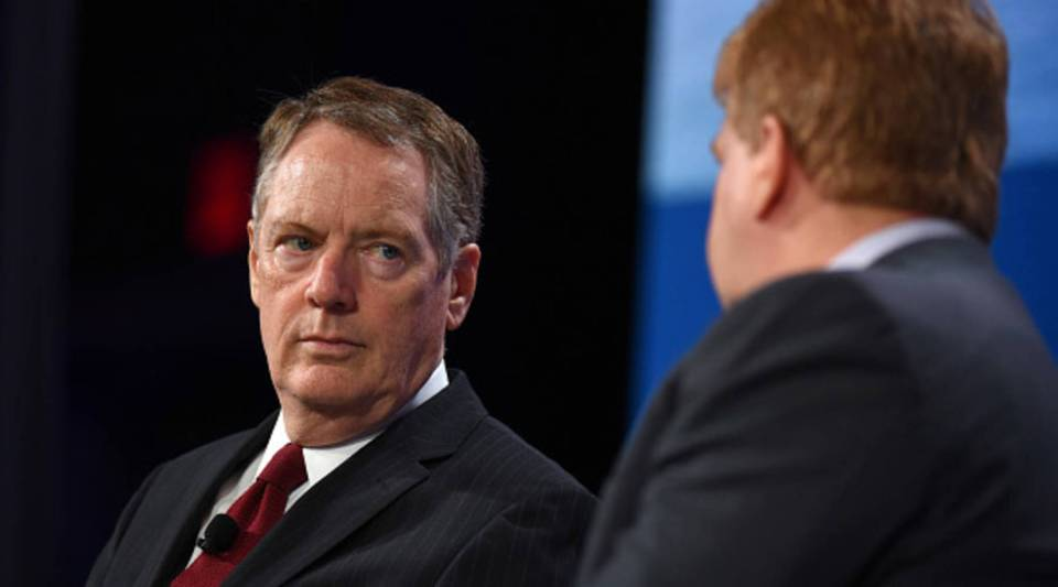 U.S. Trade Representative Robert Lighthizer speaks onstage during the 2018 Concordia Annual Summit at Grand Hyatt New York on Sept. 25, 2018 in New York City.