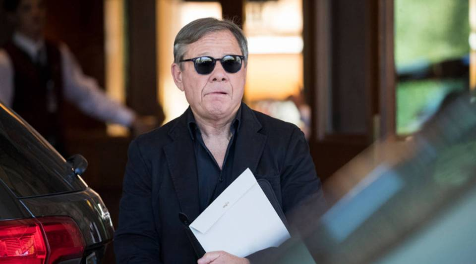 Michael Ovitz, co-founder of the Creative Artists Agency, arrives at the Sun Valley Resort in Idaho for the annual Allen & Company Sun Valley Conference in July.