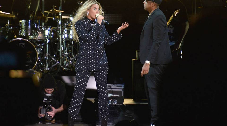 """A view of Beyonce performing back in 2016. Tickets for Jay-Z and Beyonce's """"On The Run II"""" tour this year reached nearly $1,300 at one point."""