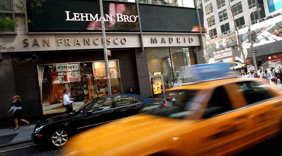 Traffic passes the Lehman Brothers building September 15, 2008 in New York City. Lehman Brothers filed a Chapter 11 bankruptcy petition in U.S. Bankruptcy Court after attempts to rescue the storied financial firm failed.