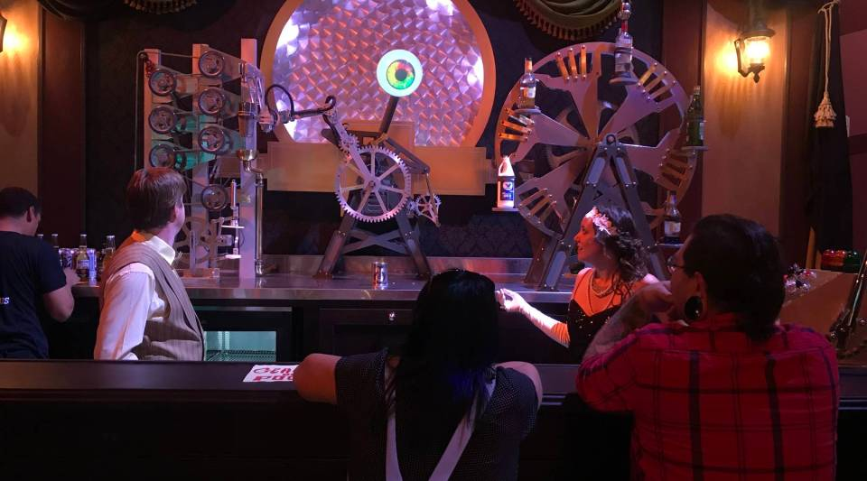 "This ""robotic bartender"" is one of the several attractions at Two Bit Circus, a place that's trying to reinvent the feel of old-fashioned carnivals ... but with a touch of the digital age."