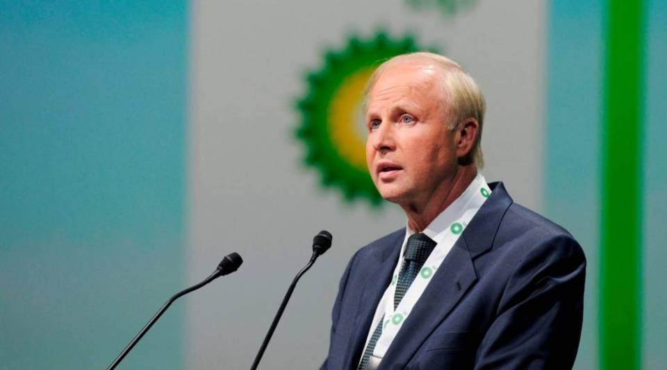 British energy giant BP CEO Bob Dudley addresses a keynote speech during the World Gas Conference in Paris on June 2, 2015.