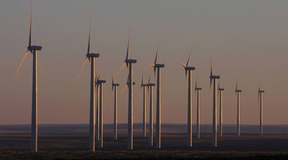 Wind turbines towering over deserts usually produce 5 megawatts of power each.