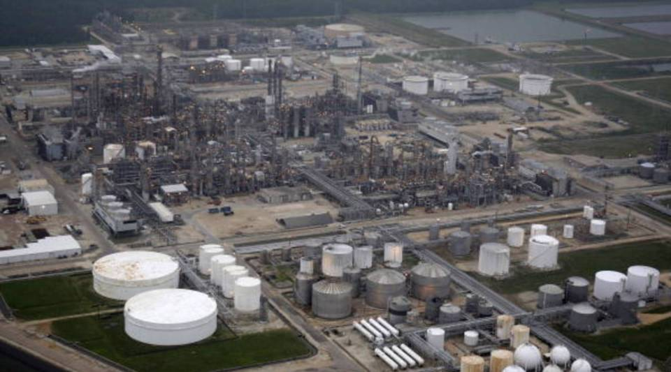 A petrochemical facility is shown after Hurricane Ike made landfall September 13, 2008 in Deer Park, Texas.