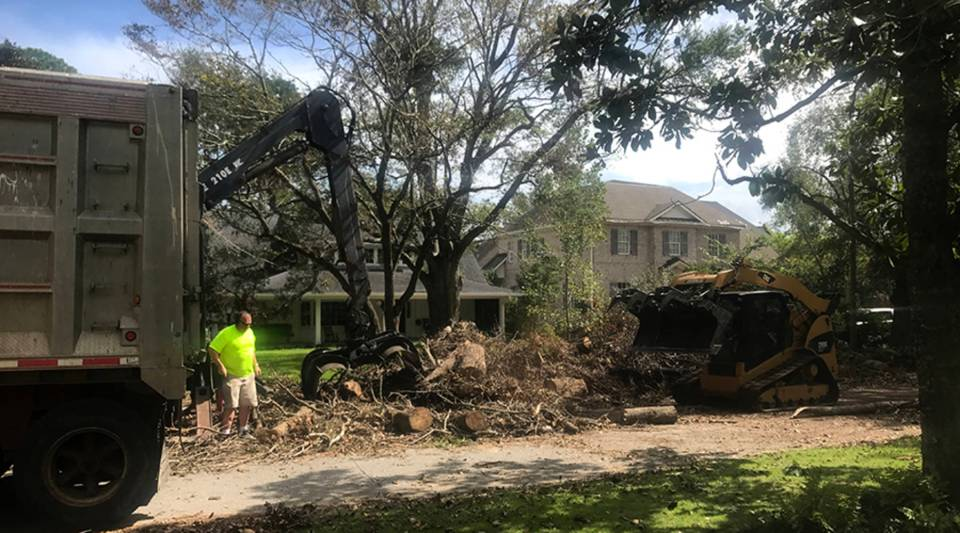 """This is heart wrenching, you know?"" says Randy Campbell, who with his crew clears debris after disasters. ""We just come in and help clean it up and make some money doing it."""